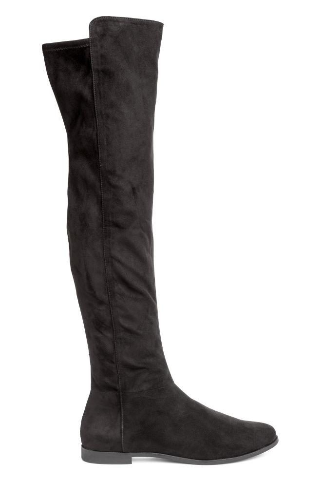 cdac9b3c9 Knee-high Boots - Black - Ladies   H&M ...
