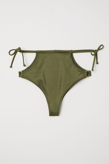 Brazilian bikini bottoms - Dark green - Ladies | H&M