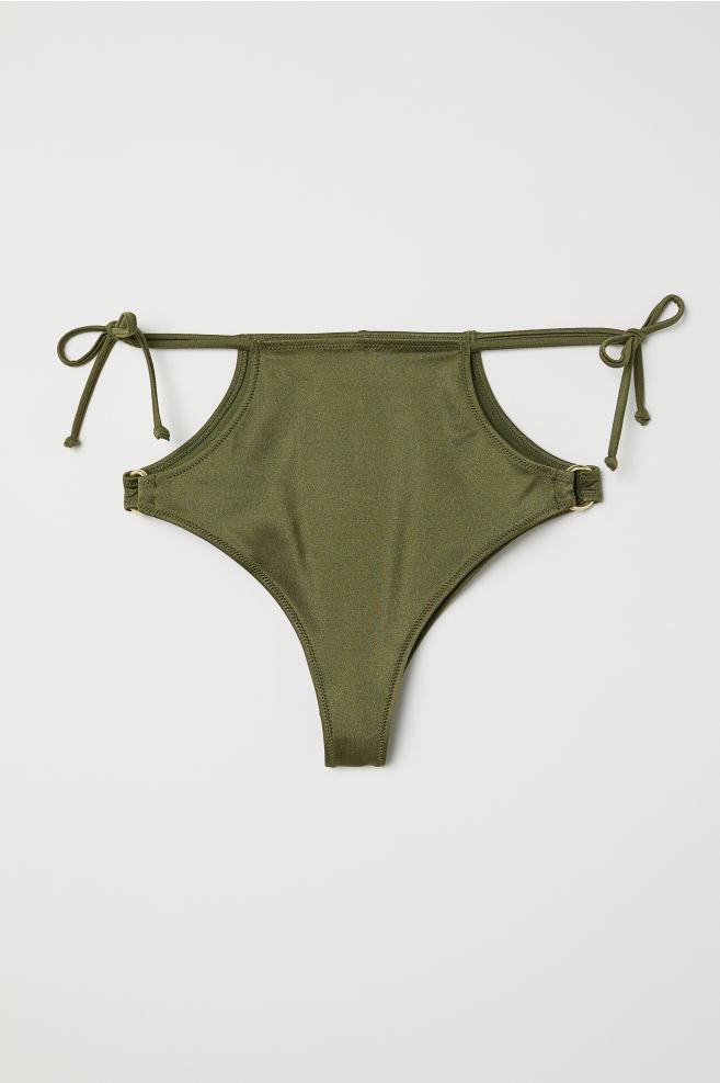 853c70790e4 Brazilian bikini bottoms - Dark green - Ladies | H&M ...