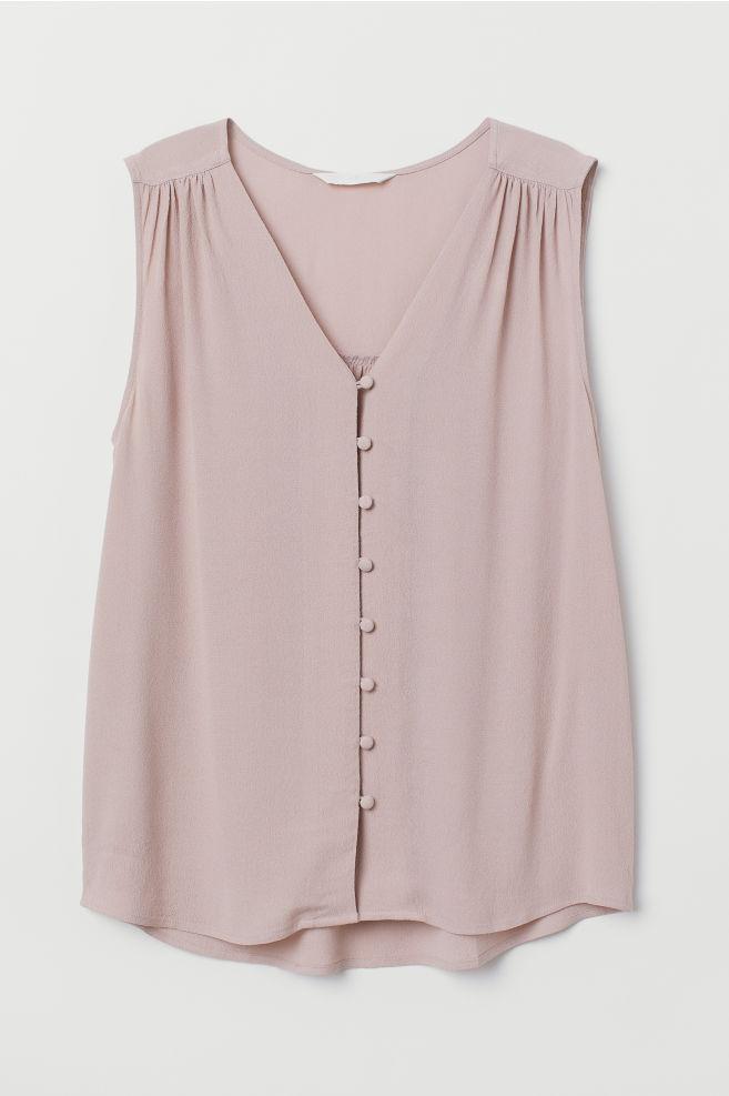 897ff284528af ... V-neck Blouse - Powder pink - Ladies