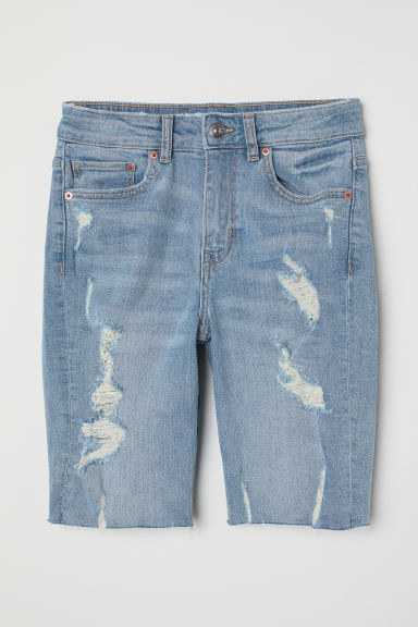Knee-length denim shorts - Denim blue - Ladies | H&M
