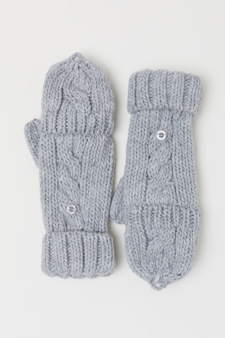 Mittens/fingerless gloves - Grey - Kids | H&M