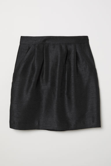 Textured skirt - Black - Ladies | H&M