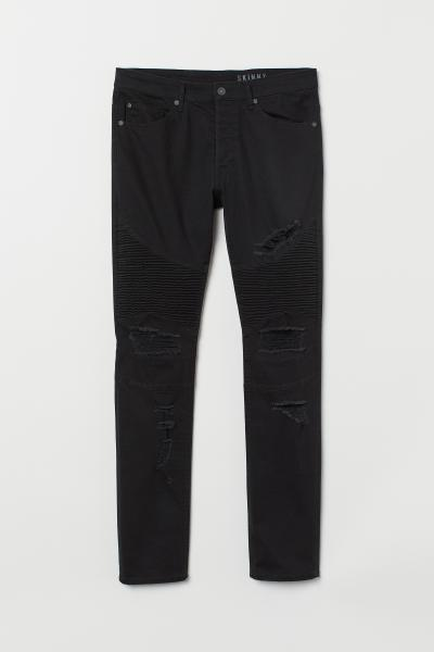 H&M - Skinny Biker Jeans - 5