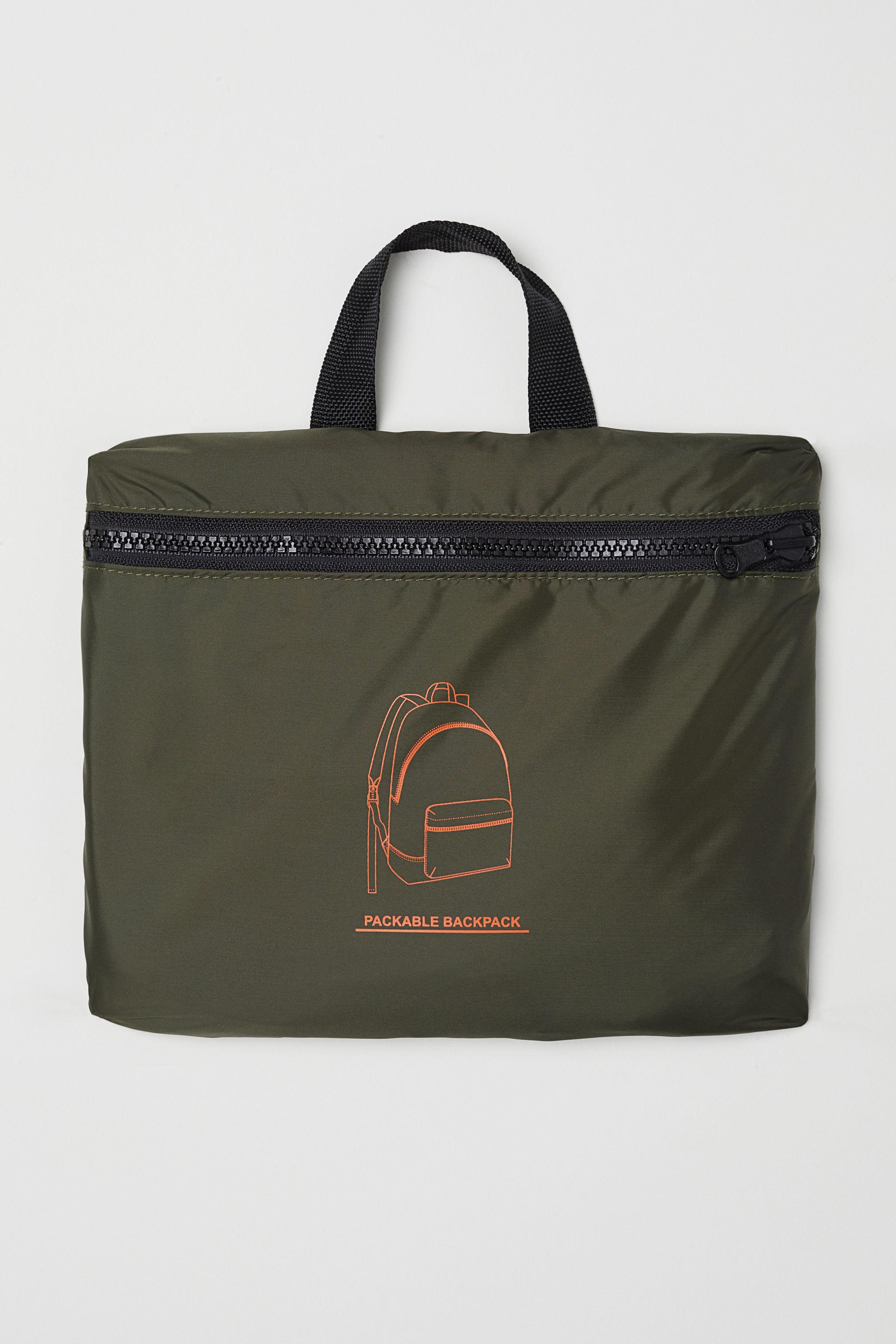 18876b1eaea Foldable Backpack - Neon green - Men | H&M US