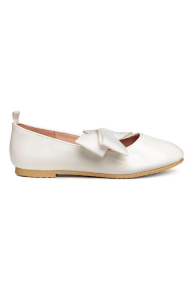 Ballet pumps - White/Patent - Kids | H&M