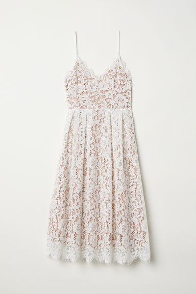 Lace dress - White -  | H&M