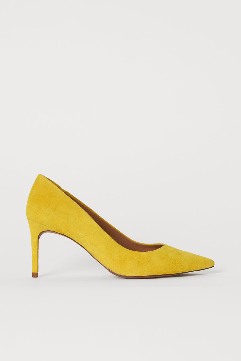 Court shoes - Yellow/Suede - Ladies | H&M