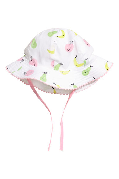 Cotton sun hat - White/Fruit - Kids | H&M CN