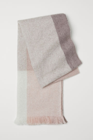 Block-coloured scarf - Mole/Light pink - Ladies | H&M GB