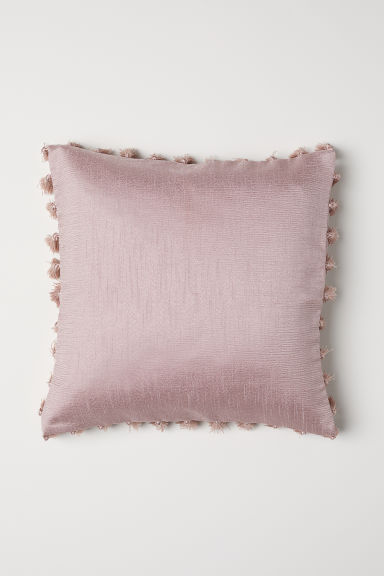 Tasselled cushion cover - Light pink - Home All | H&M CN