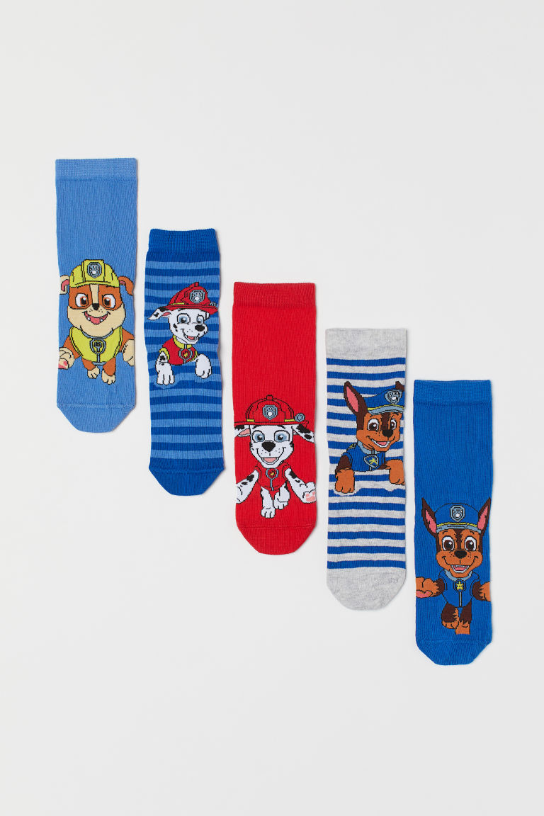 5-pack socks - Blue/Paw Patrol - Kids | H&M