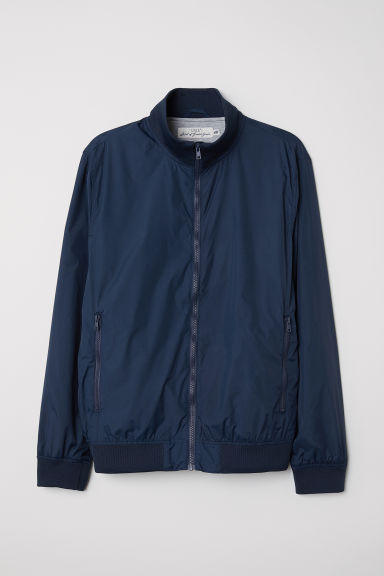 Jacket with Stand-up Collar - Dark blue - Men | H&M US