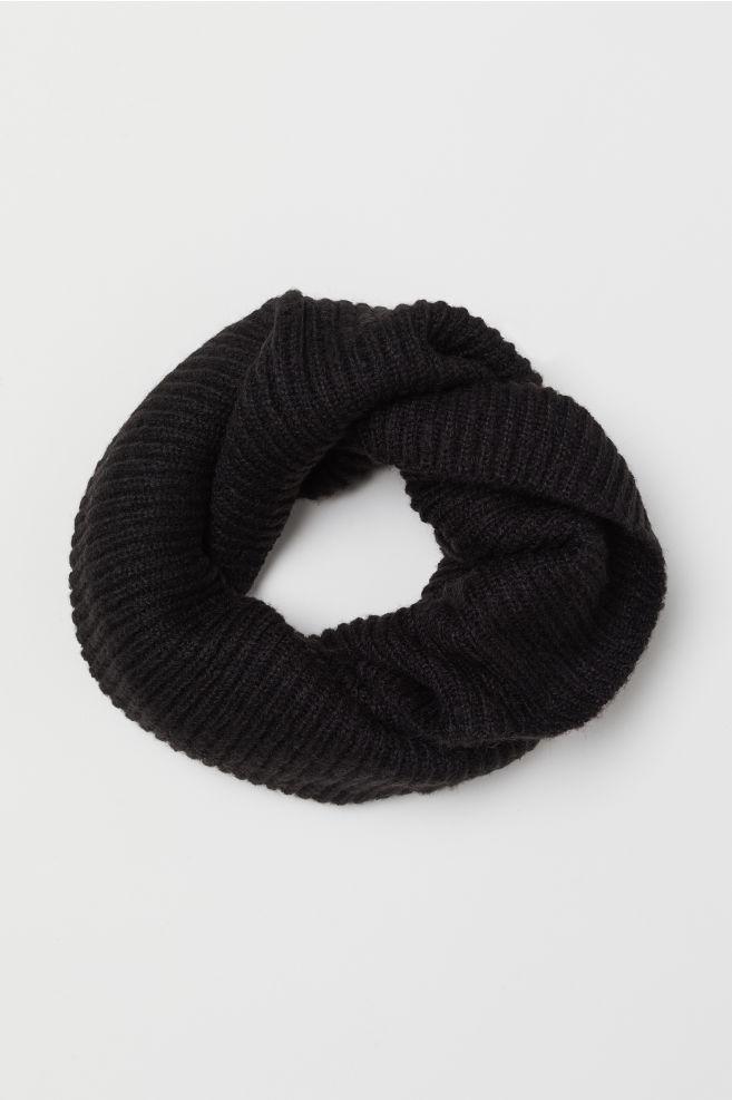 Snood en maille côtelée - Noir - FEMME | H&M FR 1