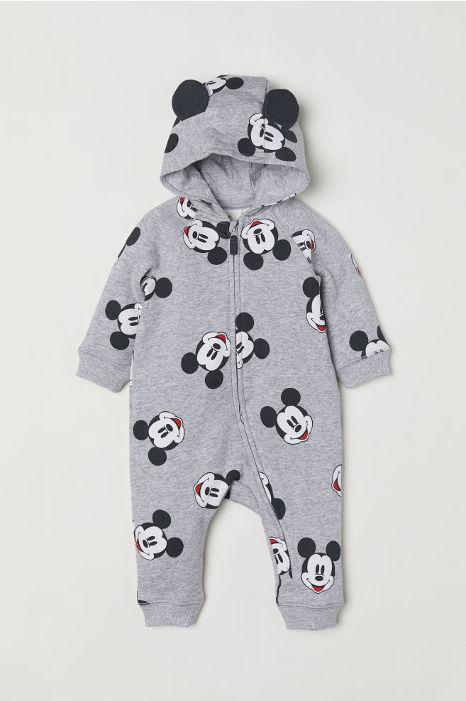 fef3bbd0357 Hooded Sweatshirt Overall - Gray/Mickey Mouse - Kids | H&M ...