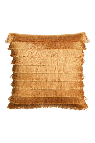 Fringed cushion cover - Gold-coloured - Home All | H&M GB