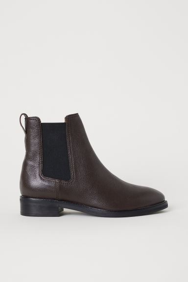 Leather Chelsea boots - Brown - Ladies | H&M CN