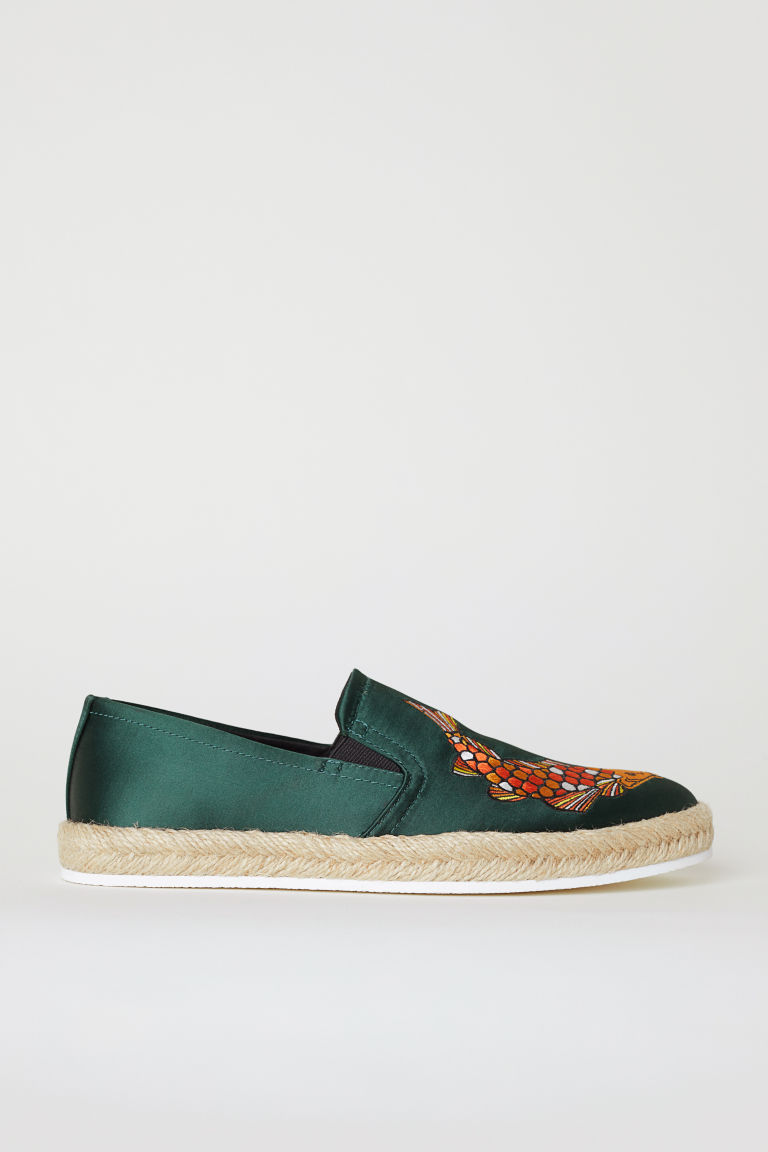Espadrillas - Verde scuro - UOMO | H&M IT