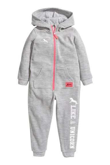 Pile all-in-one suit - Light grey/Fleece - Kids | H&M CN