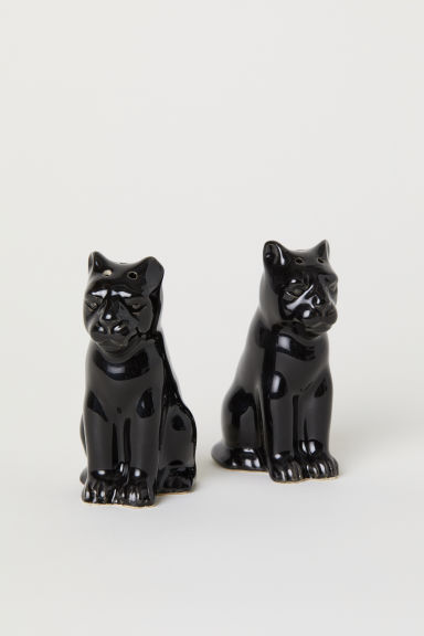 Peper-en-zoutstel - Zwart/panter - HOME | H&M BE