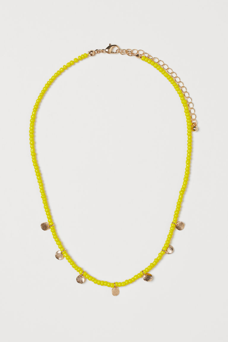 Short Necklace - Yellow/gold-colored - Ladies | H&M US