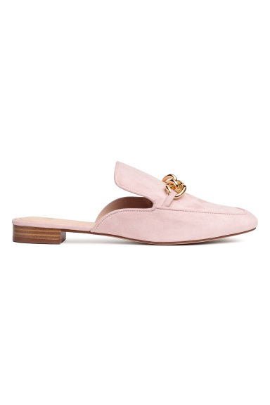 Slip-on loafers - Powder pink -  | H&M
