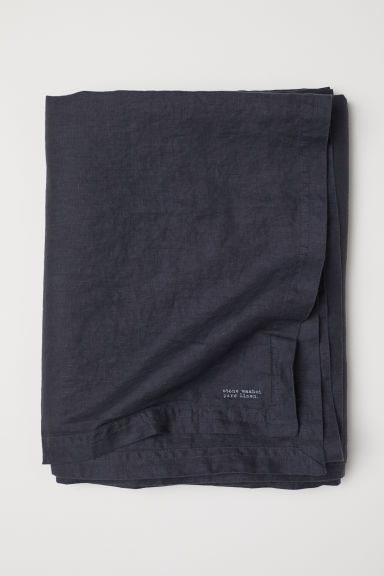 Nappe en lin lavé - Gris anthracite - Home All | H&M FR
