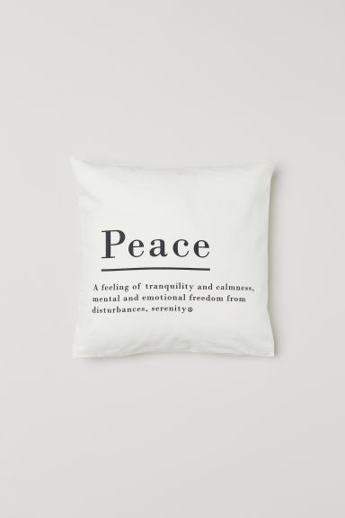 Cotton cushion cover - Natural white - Home All | H&M CN