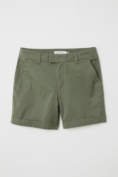 Short chino shorts - Khaki green - Ladies | H&M CN