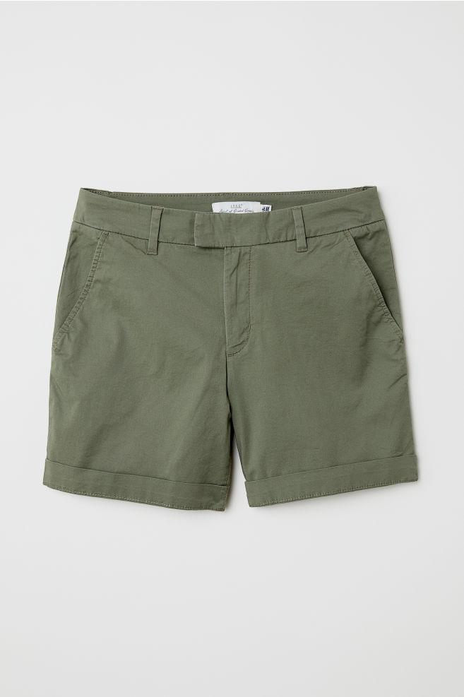 Short chino shorts - Khaki green - Ladies  67e0feb7f5bd6