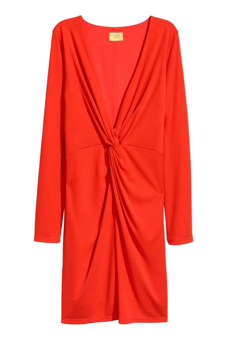 Fitted dress - Red - Ladies | H&M CN