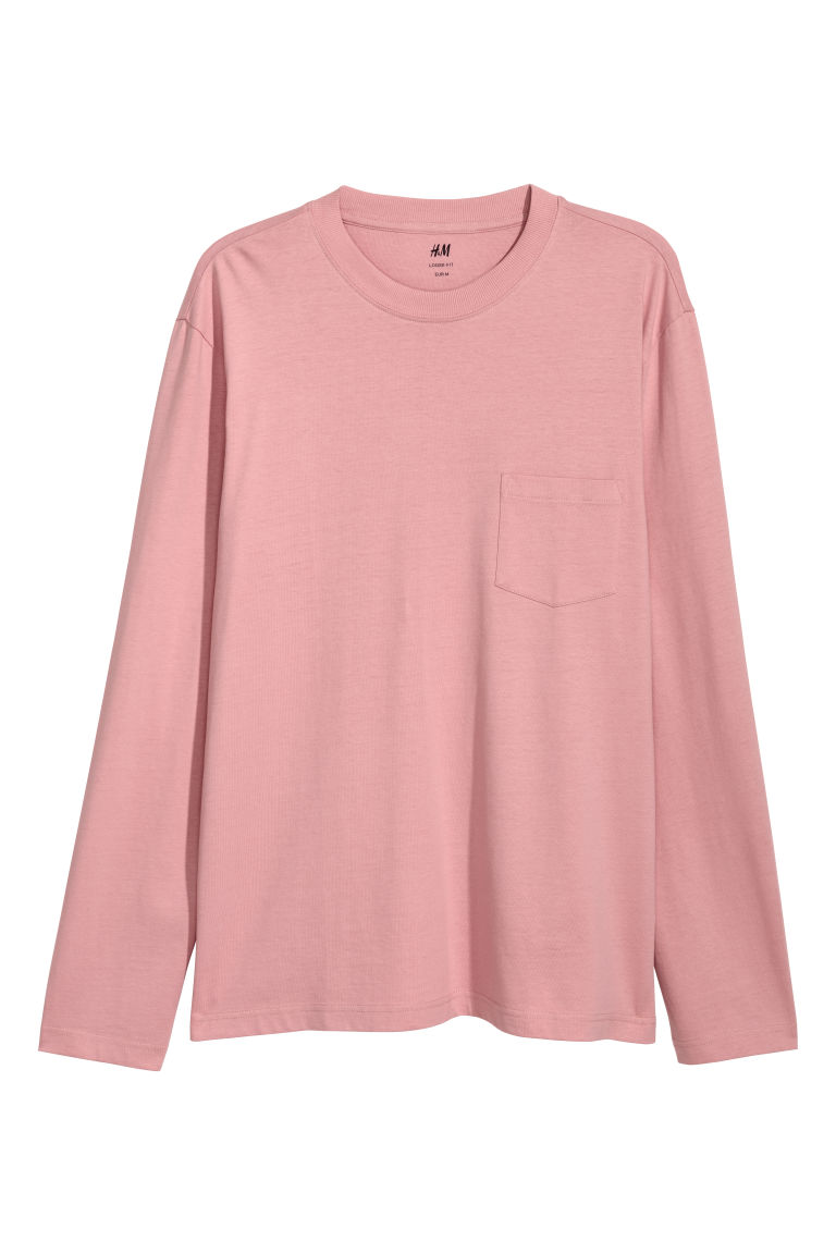Long-sleeved top Loose fit - Pink - Men | H&M