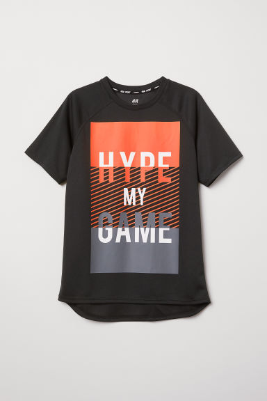 Sports top - Black/Hype - Kids | H&M