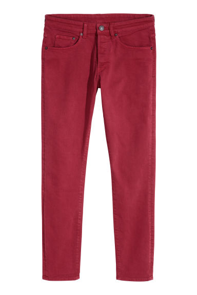 Skinny Jeans - Dark red -  | H&M CN