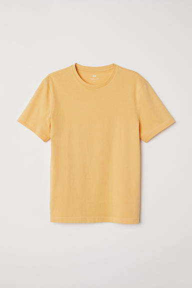 Round-neck T-shirt Regular fit - Yellow - Men | H&M