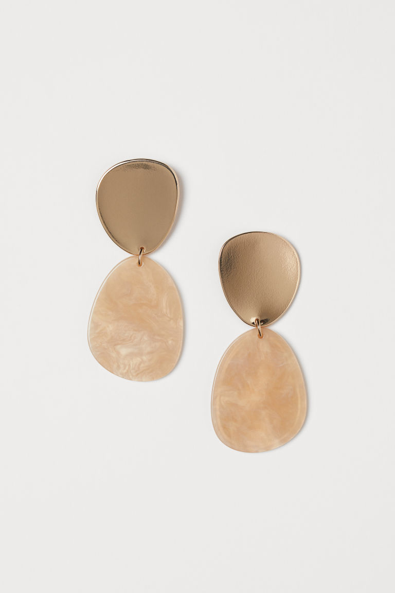Large earrings - Gold-coloured/Light beige - Ladies | H&M GB