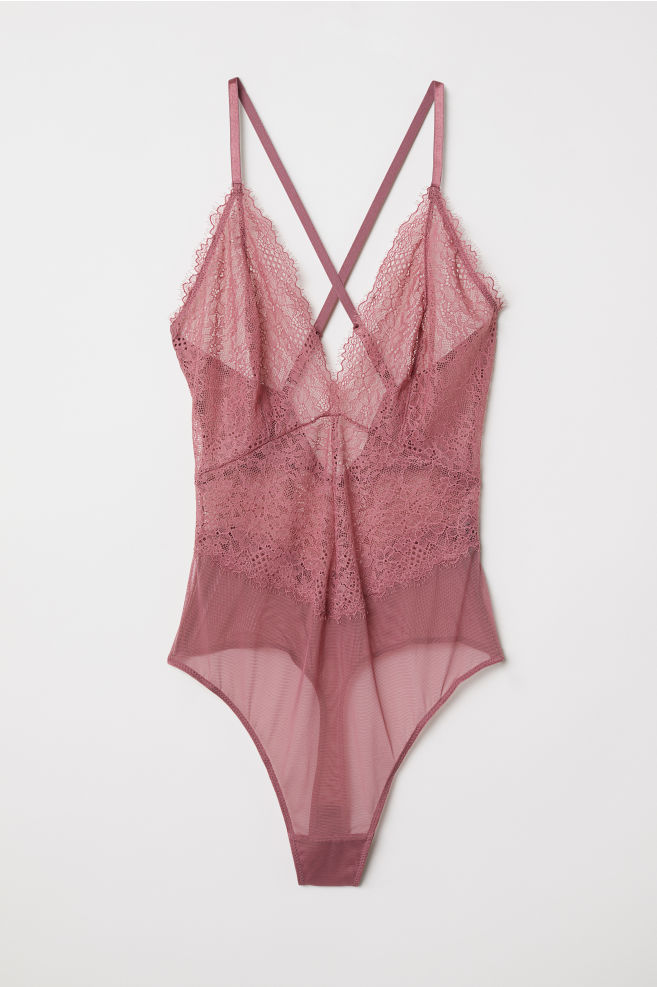 627025eafdd6 Lace Bodysuit - Vintage pink - Ladies | H&M ...