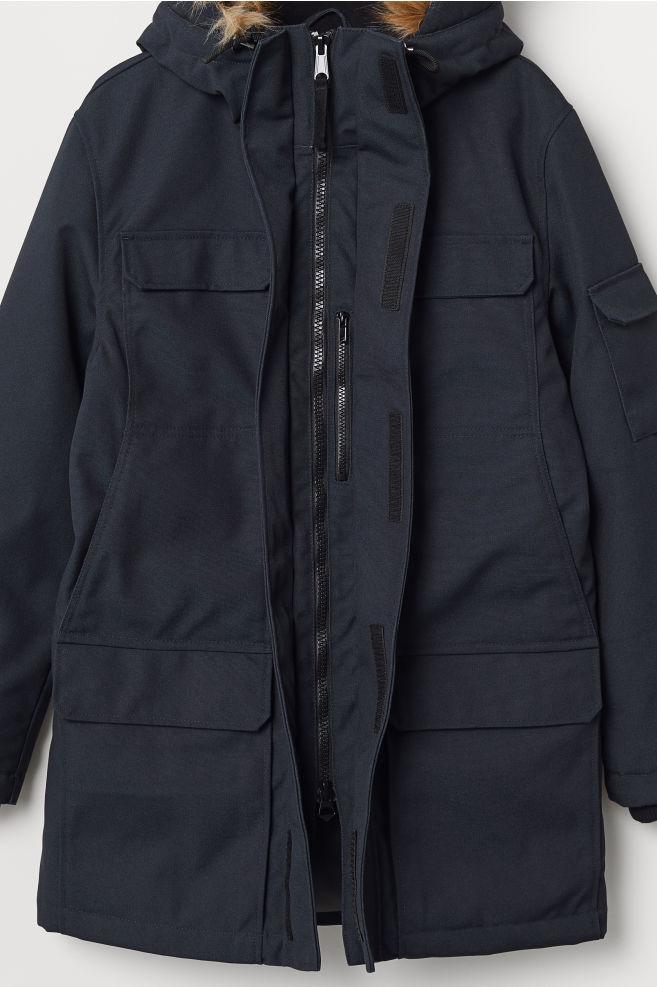 f16fe2e20698 ... Warm-lined Parka - Dark blue - Men | H&M ...
