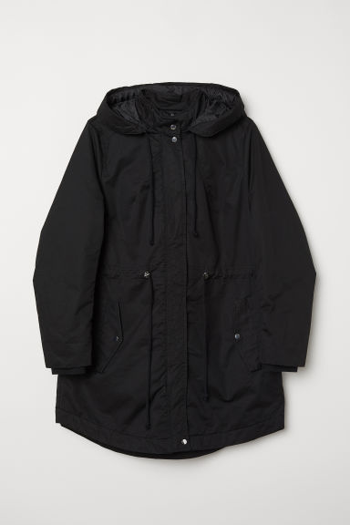 H&M+ Hooded parka - Black - Ladies | H&M