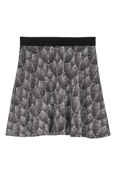 Skater skirt - Black/Silver-coloured - Ladies | H&M GB