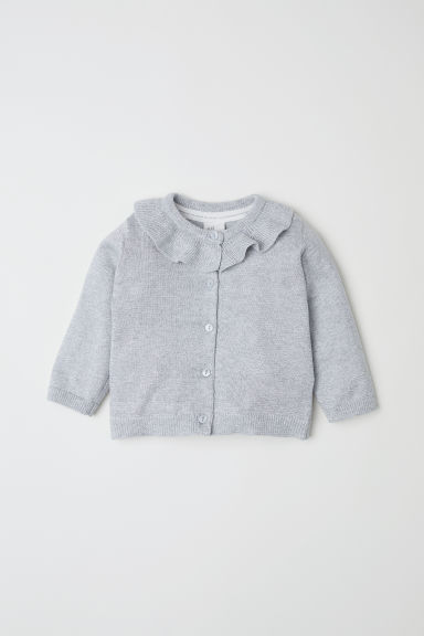 Glittery cardigan - Light grey/Glittery - Kids | H&M CN