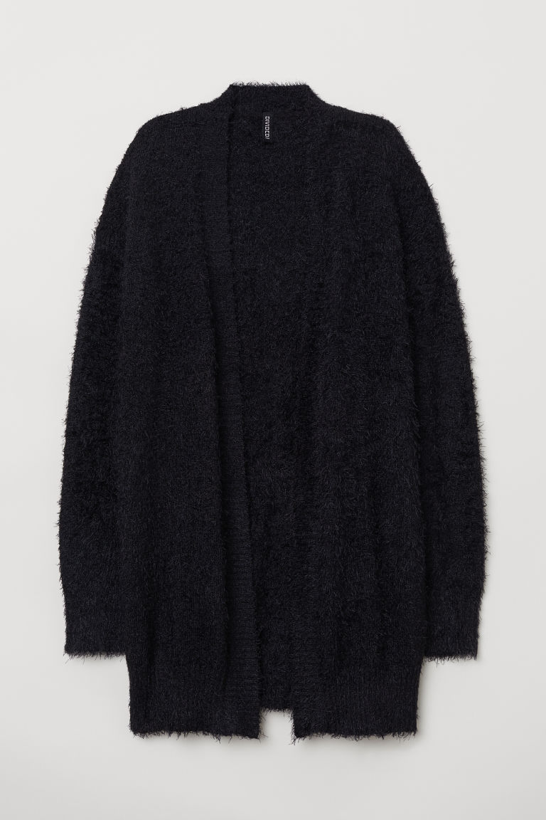 Fluffy cardigan - Black - Ladies | H&M