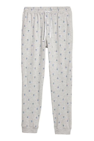 Pyjama bottoms - Light grey/Anchors -  | H&M