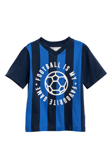 Printed T-shirt - Blue/Striped - Kids | H&M