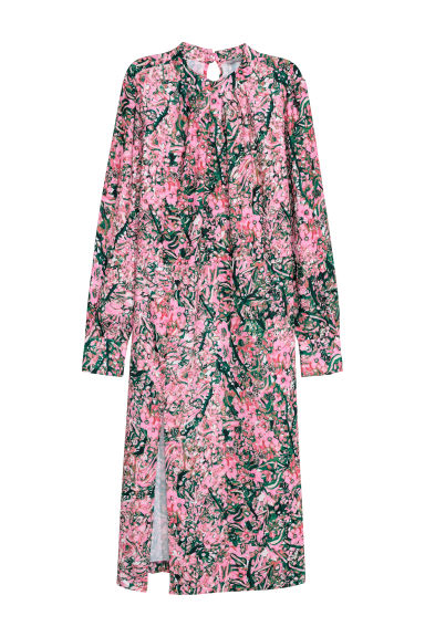 Calf-length dress - Pink/Floral - Ladies | H&M GB