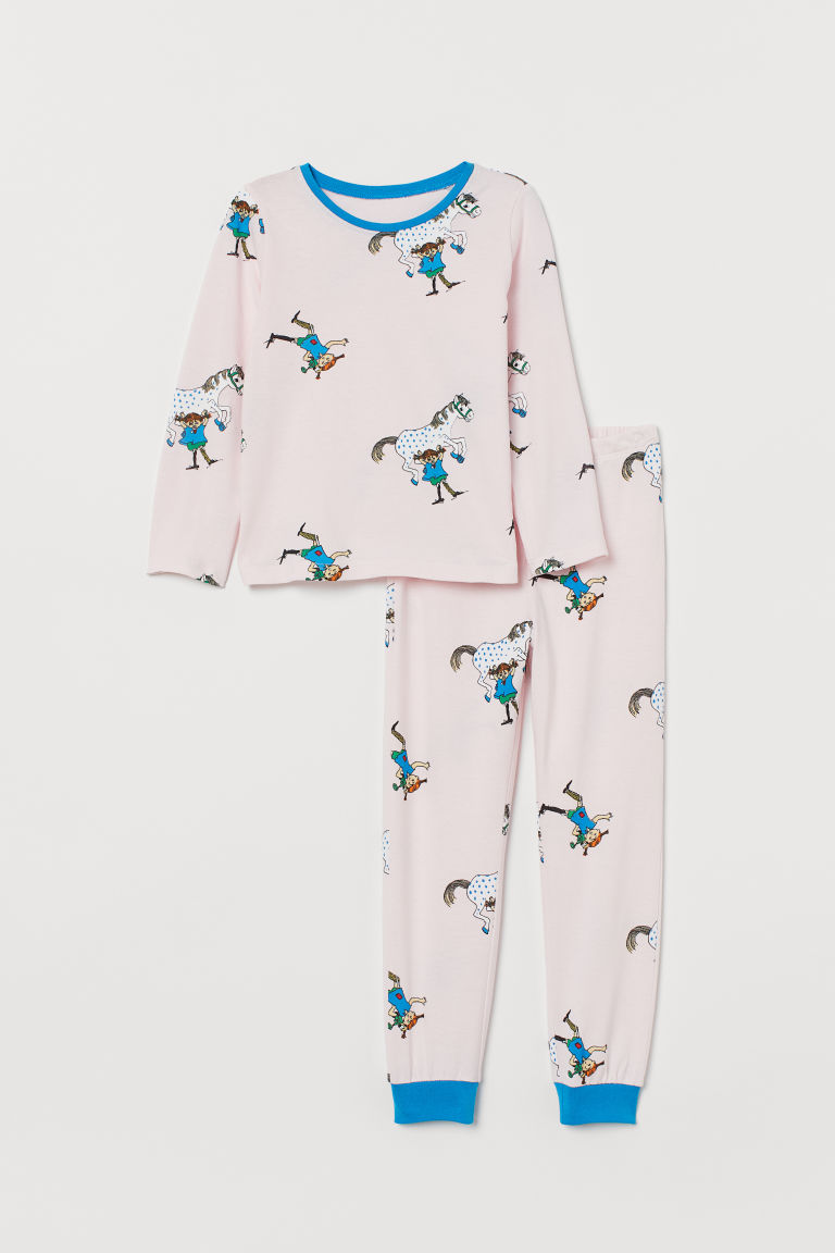 Jersey pyjamas - Light pink/Pippi Longstocking - Kids | H&M