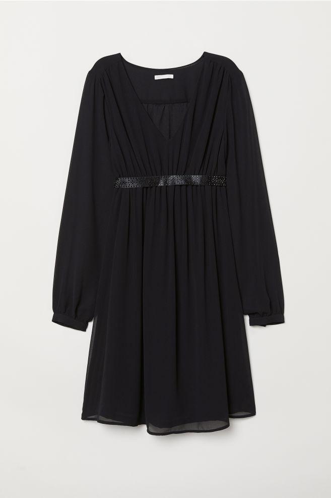 76f2d0085c4468 MAMA Sukienka z paskiem - Czarny - | H&M ...