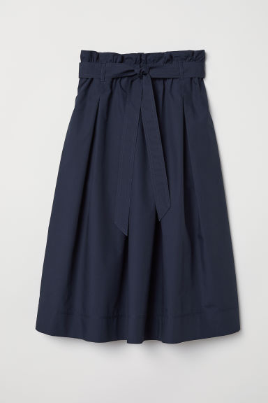 Calf-length skirt - Dark blue - Ladies | H&M