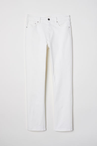 Ankle-length stretch trousers - White - Ladies | H&M CN