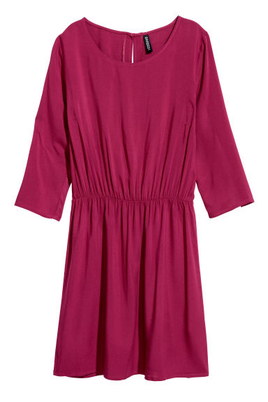 Short dress - Plum -  | H&M